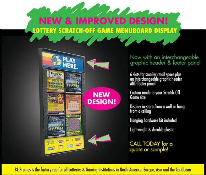 Lottery Menu Board